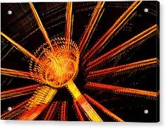 Ferris Wheel Lights Acrylic Print by Jeffrey Auger
