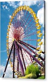Ferris Wheel Acrylic Print by Lynnette Johns