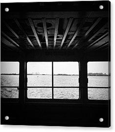 Ferry Window Acrylic Print by Eli Maier
