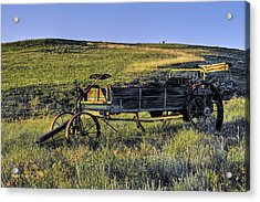 Acrylic Print featuring the photograph Fertilizer Spreader by Stephen  Johnson