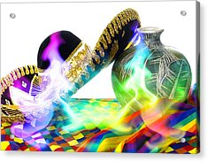 Festive Fiesta Acrylic Print by Trudy Wilkerson