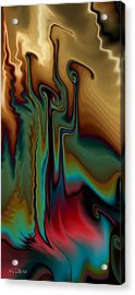 Acrylic Print featuring the digital art Fever by Kim Redd