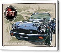 Fiat Spyder Acrylic Print