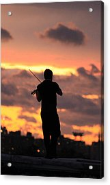 Fiddler On The Roof Acrylic Print by Nina Mirhabibi