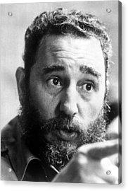 Fidel Castro, Circa 1977 Acrylic Print by Everett