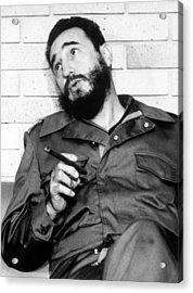Fidel Castro, In 1974 Acrylic Print by Everett