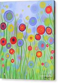 Acrylic Print featuring the painting Field Of Dreams by Stacey Zimmerman