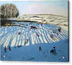 Fields Of Shadows Acrylic Print by Andrew Macara