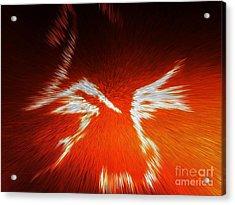 Fiery Angel Face Acrylic Print by Robert Haigh