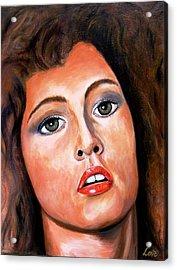 Fiery Lady Acrylic Print