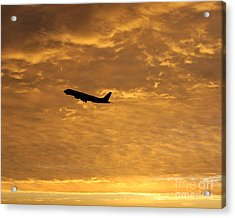Acrylic Print featuring the photograph Fiery Skies by Alex Esguerra