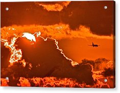 Acrylic Print featuring the photograph Fiery Skies by Scott Holmes