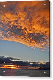 Fiery Sky At Sunset In Maui Acrylic Print by Kirsten Giving