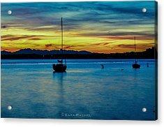 Fiery Sky Acrylic Print by Sarai Rachel