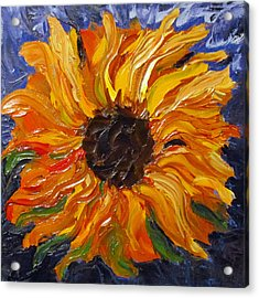 Fiery Sunflower Acrylic Print