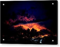 Fiery Sunset Acrylic Print by Frank DiGiovanni