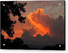 Fiery Sunset Acrylic Print