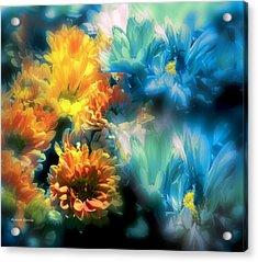 Fiesta Floral Acrylic Print by Alfonso Garcia