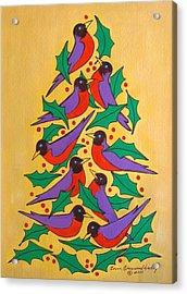 Fiesta Of Robins Acrylic Print