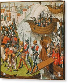 Fifth Crusade Siege Of Damietta 1218 Acrylic Print by Photo Researchers