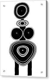 Figure - Primitive Art Acrylic Print by Michal Boubin