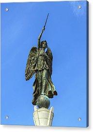 Figure Of Winged Victory At Gettysburg Acrylic Print by Randy Steele