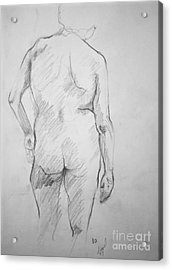 Figure Study Acrylic Print by Rory Sagner