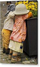 Figurines In Rural Dresses Acrylic Print by Heiko Koehrer-Wagner