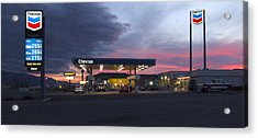 Filler Up Acrylic Print by Mike McGlothlen