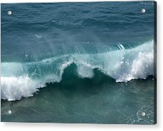 Final Collapse Of A Wave Acrylic Print by Gregory Scott
