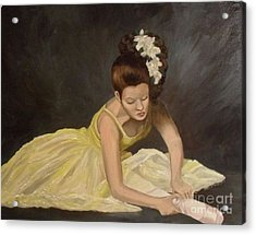 Acrylic Print featuring the painting Final Preparations by Julie Brugh Riffey
