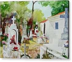 Acrylic Print featuring the painting Final Resting Place by Tom Riggs