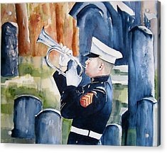 Final Salute Acrylic Print by Brian Degnon