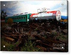 Final Stop Express . 7d8995 Acrylic Print
