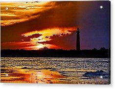 Final Sunset Ponce Lighthouse Acrylic Print by Stephen  Johnson
