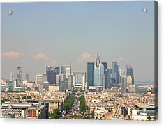 Financial Buidings In Paris Acrylic Print by All right rs