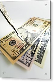 Financial Cuts Acrylic Print by Tek Image
