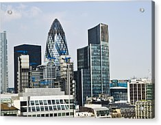 Financial Skyline Of London Acrylic Print by John Harper