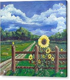 Finch Farm Acrylic Print by Jim Miller