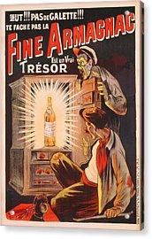 Fine Armagnac Advertisement Acrylic Print by Eugene Oge
