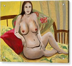 Fine Art Female Nude Seated 2010 Acrylic Print