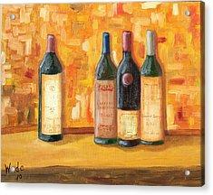 Fine Wine Selection Acrylic Print by Craig Wade