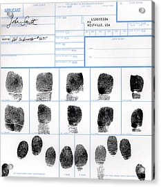Fingerprint Identification Application Acrylic Print by Science Source
