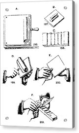 Fingerprinting Instructions, Circa 1900 Acrylic Print by Science Source