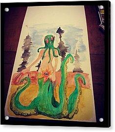 Finito #acquerello #watercolor Acrylic Print