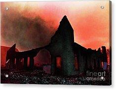 Fire At Dawn Acrylic Print by Terril Heilman