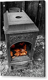 Fire Box Acrylic Print by Steven Milner