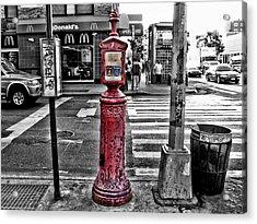 Fire Call Box Acrylic Print by Bennie Reynolds