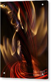 Acrylic Print featuring the digital art Fire Dance by Johnny Hildingsson