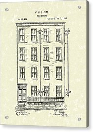 Fire Escape 1886 Patent Art Acrylic Print